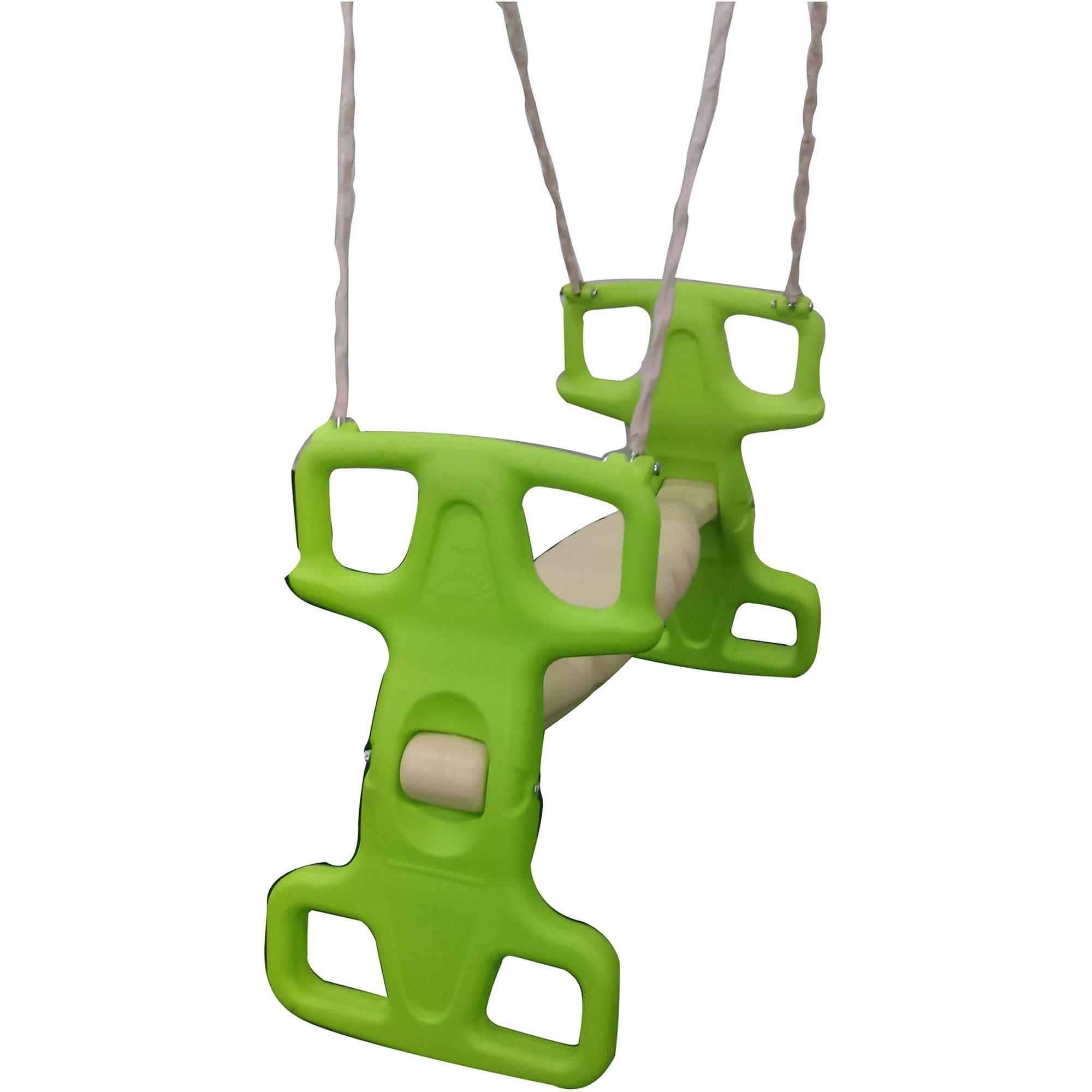 Flexible Flyer Parakeet Green Rocket Rider Tandem Swing Assembly