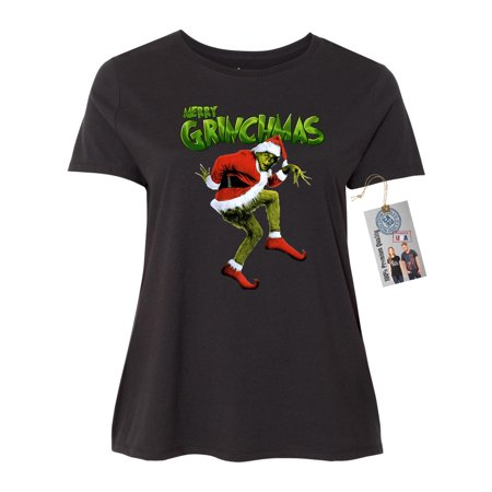 Merry Grinchmas Grinch Christmas Plus Size Womens Short Sleeve Shirt - Toddler Grinch Shirt