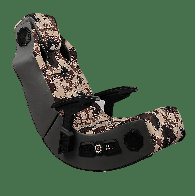 X Rocker Wireless 4-Speaker Pro Series Video Rocker Gaming Chair, Camouflage
