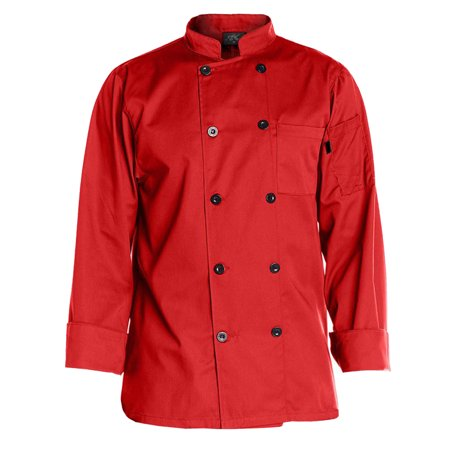 Chef Code Men's 10 Pearl Button Classic Chef Coat CC122 (Chef Revival Black Jacket)