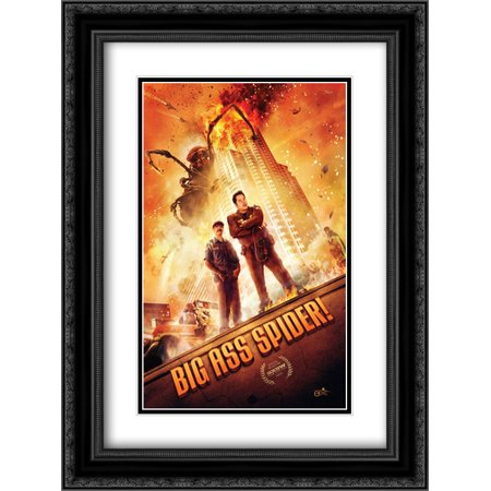 Big Ass Spider! 18x24 Double Matted Black Ornate Framed Movie Poster Art
