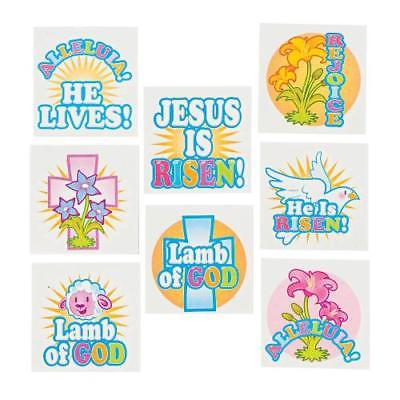 IN-36/2640 Inspirational Easter Tattoos 2PK