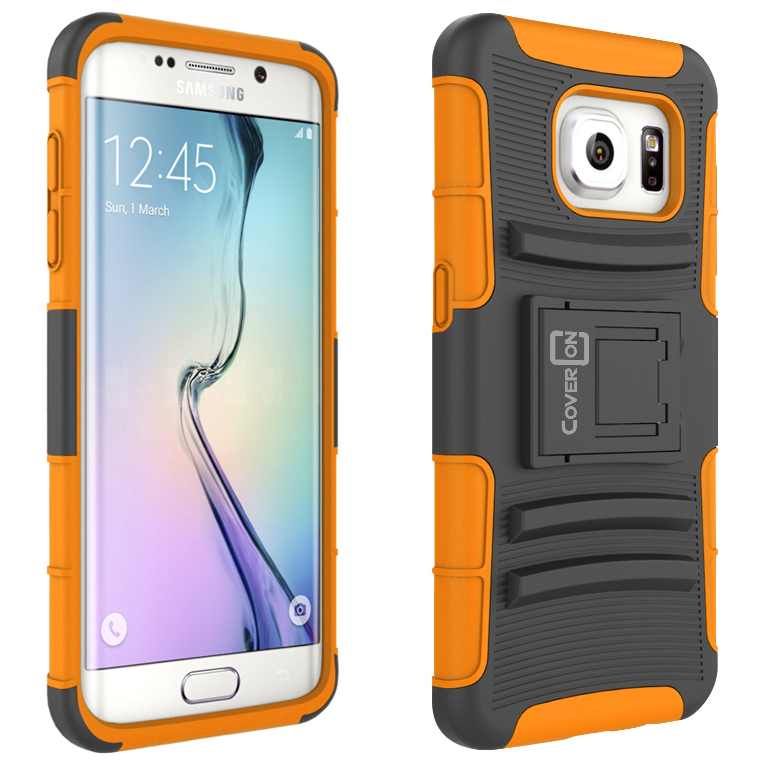 CoverON Samsung Galaxy S7 Edge Case, Explorer Series Protective Holster Belt Clip Phone Cover