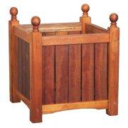 Square Solid Wood Lexington Planter Box
