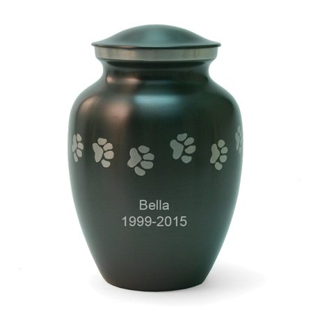 Medium Gray Slate - Slate Paw Cremation Urn - Medium - Grey Brass 85 Pounds Medium