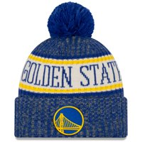 Golden State Warriors New Era Sport Cuffed Knit Hat with Pom - Royal - OSFA