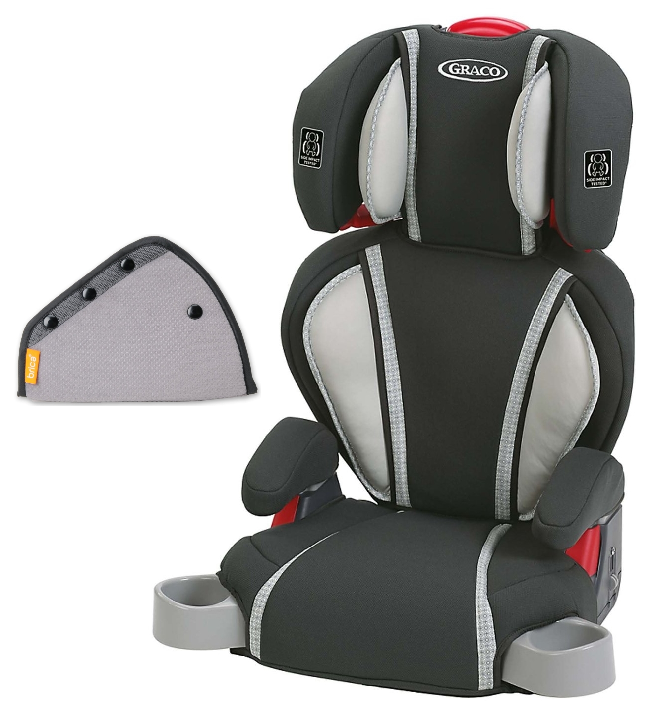 Graco Highback TurboBooster Booster Car Seat with Seat Belt Adjuster, Glacier