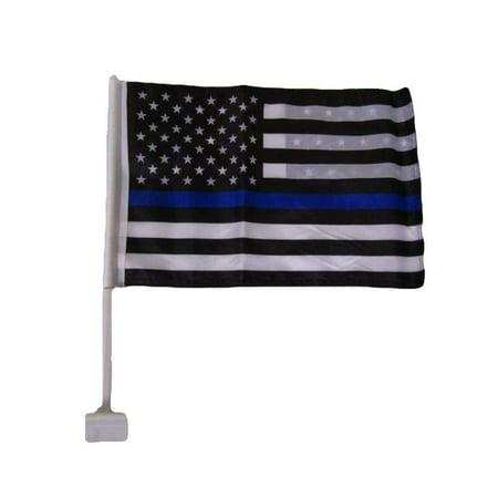 USA Police Thin Blue Line Double Sided Car Window Vehicle 12