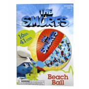 The Smurfs Movie Red, Yellow and Blue Colored Kids Beach Ball