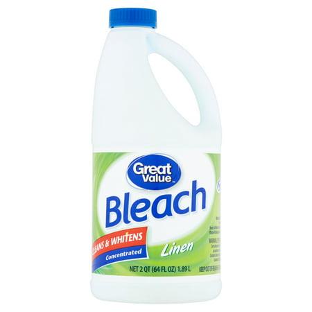 Great Value Bleach, Linen Scent, 64 fl oz