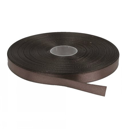 Brown Solid Color 3/8-Inch Straight Edge Ribbon, 100-Yards