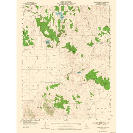Topographic Map Observation Peak California Quad Usgs 1954 23