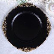 "Efavormart 6 Pack 13"" Round Baroque Charger Plates Leaf Embossed Rim for Tabletop Decor"