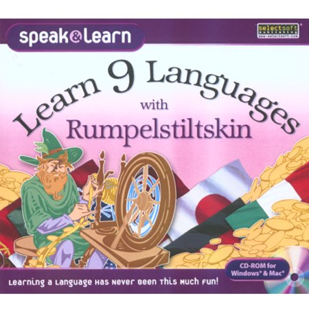 Learn 9 Languages with Rumpelstiltskin for Windows/Mac- XSDP -LESPL9RUMJ - Reading and listening to stories can be one of the best and easiest ways to learn a new language. With Speak & Learn,