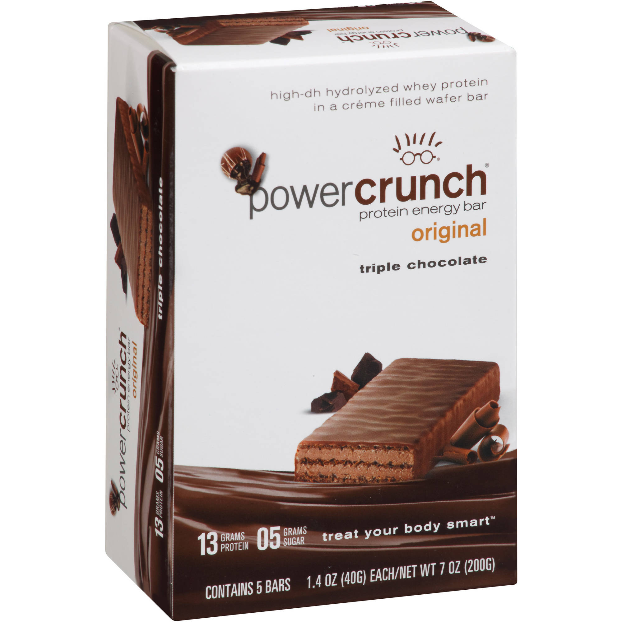 Power Crunch Original Triple Chocolate Protein Energy Bars, 1.4 oz, 5 count