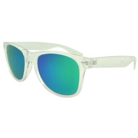 MLC Eyewear St. Lucas Retro Horn Rimmed Fashion Sunglasses, Green for $<!---->