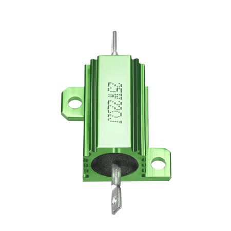 25W 22 Ohm Aluminium Housing Chassis Mount Wirewound Power Resistors Green 5pcs - image 2 of 4