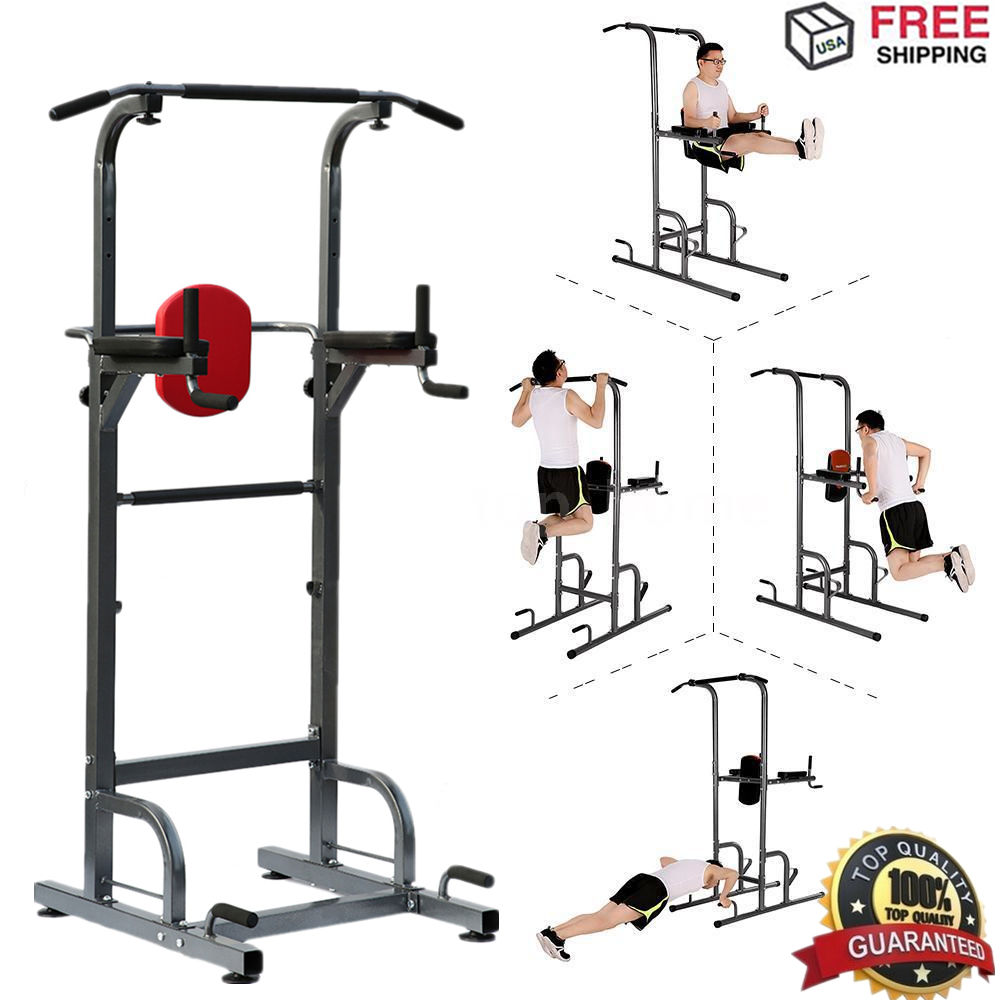 Weider Power Tower Exercise Home Gym Strength Pull-Up & P...
