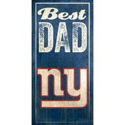 New York Giants 6'' x 12'' Best Dad Sign