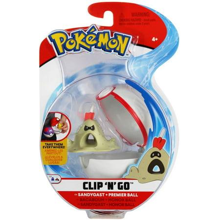 Pokemon Clip 'N' Go Sandygast & Premier Ball Figure Set](Pokemon Balls That Open)