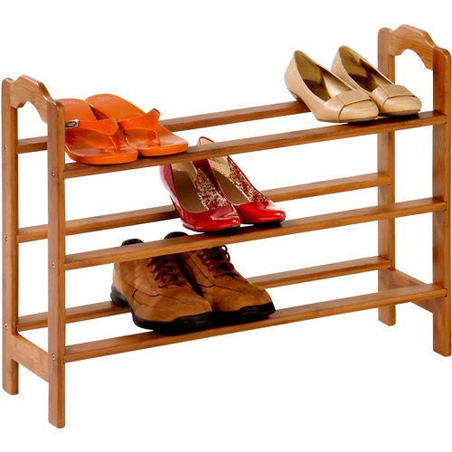 Honey Can Do Moisture Resistant 3-Tier Bamboo Shoe Rack