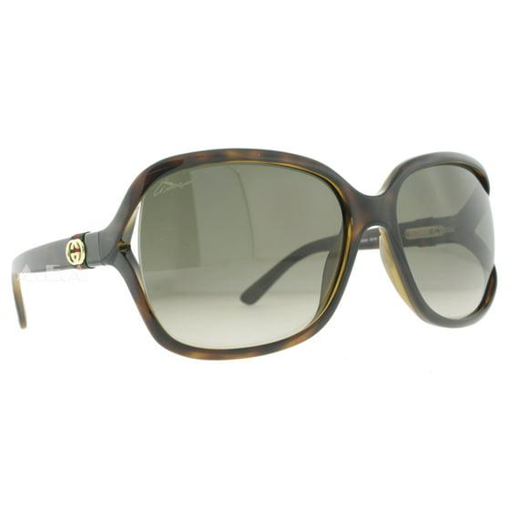 b07ac98c268 GUCCI - Gucci GG 3646 S DWJ HA Havana Brown Gradient Cut-out Lens Women s  Sunglasses - Walmart.com