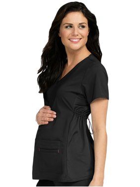 Med Couture 'Activate' Knit Side Panel Maternity Top Scrub Top