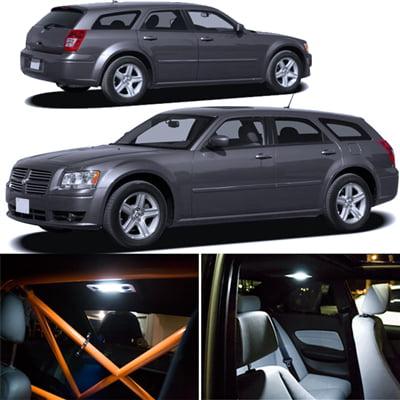 LED KIT FOR Dodge Magnum Xenon White Interior SMD LED Lights Package Kit 2005-2008
