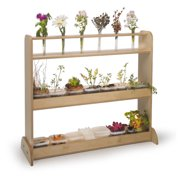 Whitney Brothers Nature Double Sided 3 Compartment Shelving Unit
