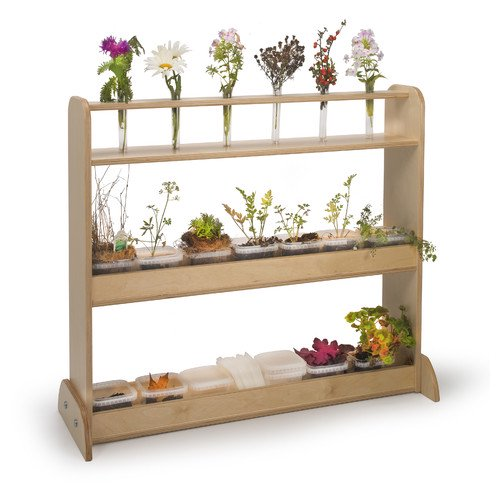Whitney Brothers Nature Double Sided 3 Compartment Shelving Unit Walmart Com Walmart Com