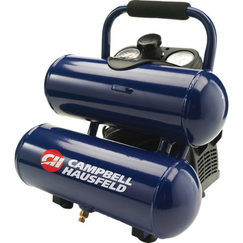 Campbell Hausfeld FP260200AV 2 Gallon Twinstack Air Compressor with Inflation Kit