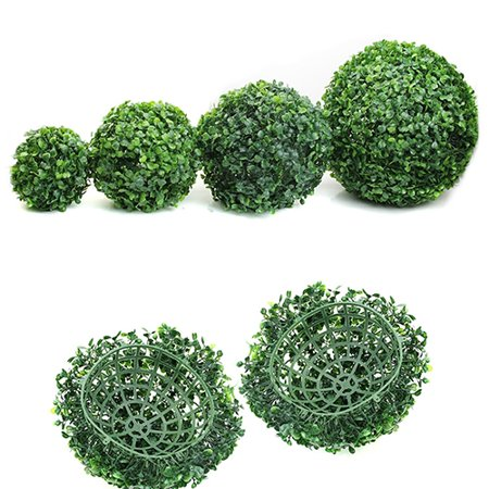 Heepo Artificial Plant Ball Topiary Tree Boxwood Home Outdoor Wedding Party - Balloon Topiary