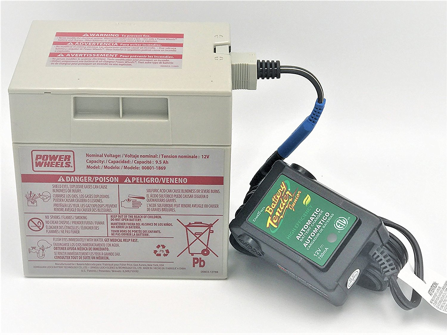 power wheels gray 12 volt battery 00801 0638 and automatic battery rh walmart com Power Wheels 12V Battery Replacement power wheels 12v battery harness