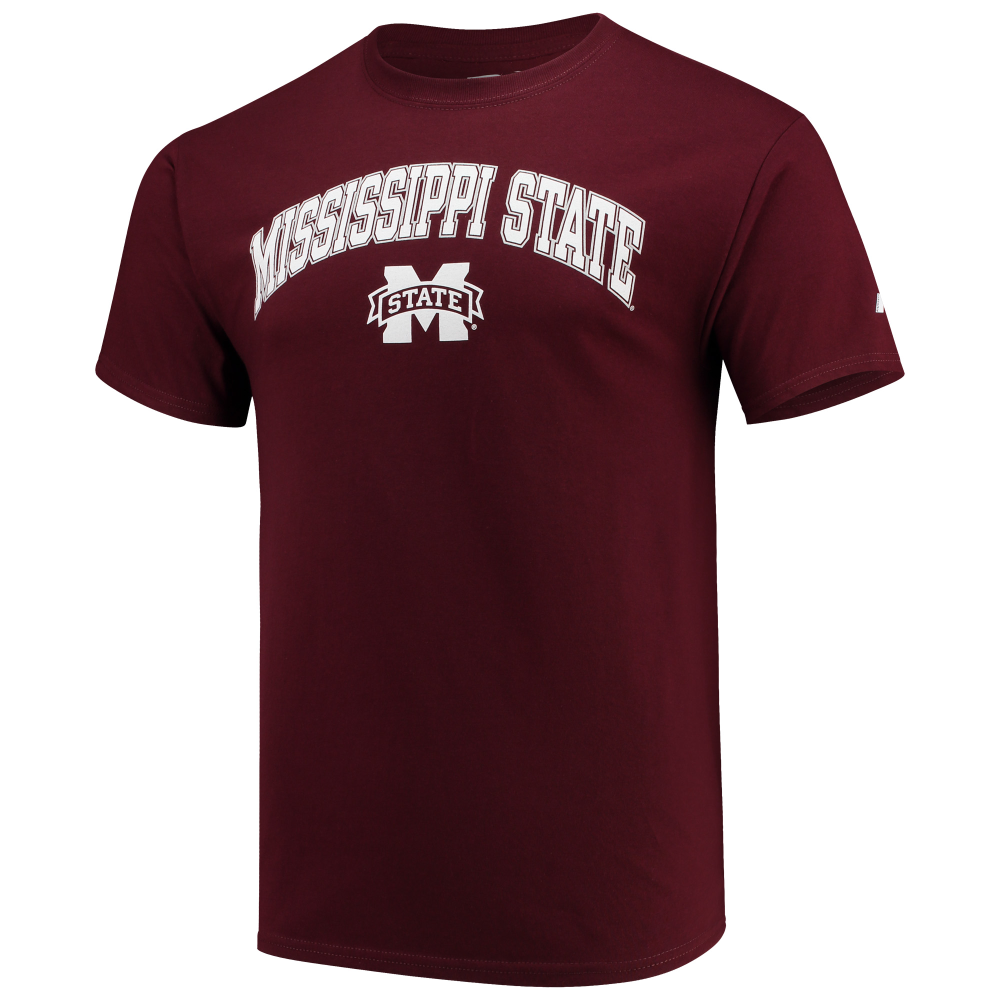 Men's Russell Maroon Mississippi State Bulldogs Core Print T-Shirt