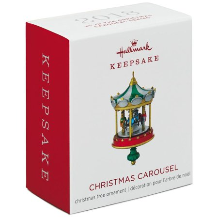 Hallmark Keepsake 2018 Mini Christmas Carousel Ornament, 2.2