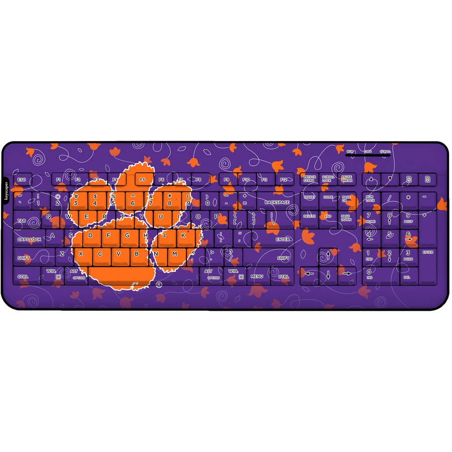 Clemson Tigers Wireless USB Keyboard
