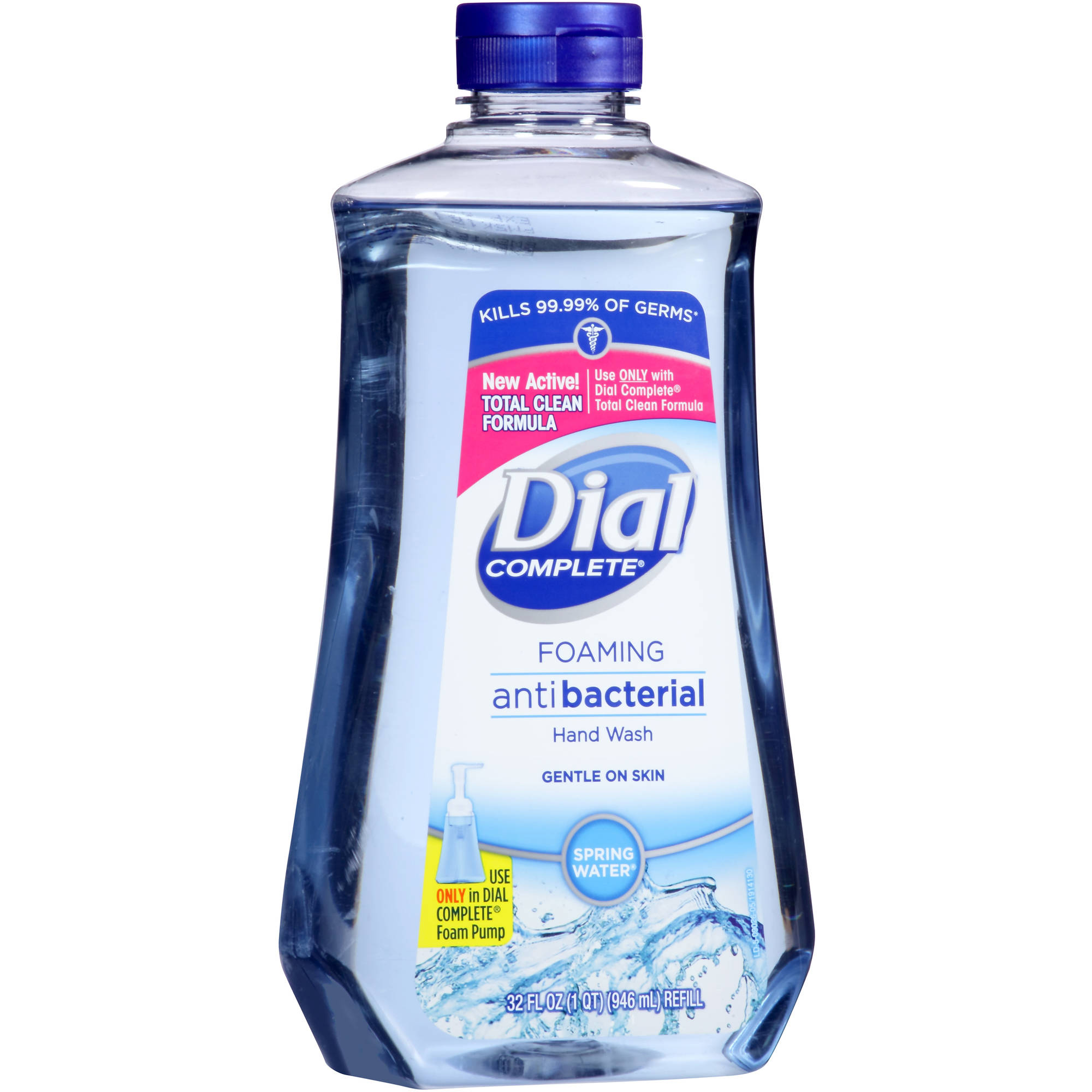 Dial Complete Spring Water Foaming Antibacterial Hand Wash, 32 oz