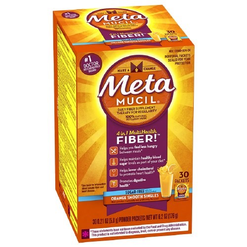 Metamucil Smooth Sugar Free Powder Packets Orange