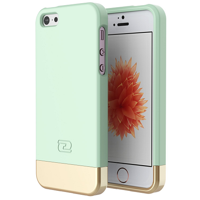 iPhone 5 SE Case, Encased (SlimShield Series) Ultra Thin Hybrid Cover (Mint Green)