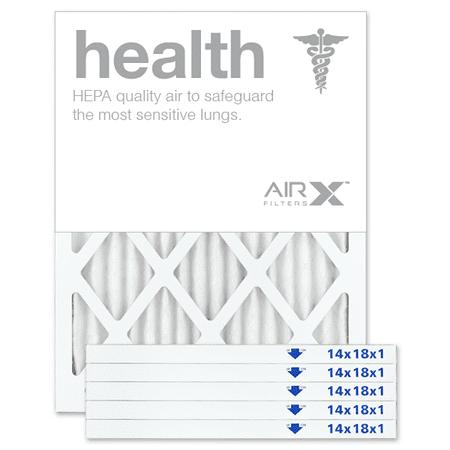 airx filters health 14x18x1 air filter merv 13 ac furnace pleated ...