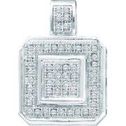 Gold and Diamonds PF2612-W 0.15CT-DIA MICRO-PAVE PENDANT- Size 7