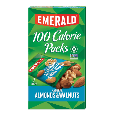 Emerald 100 Calorie Pack Walnuts and Almonds, .56oz Packs, 7/Box