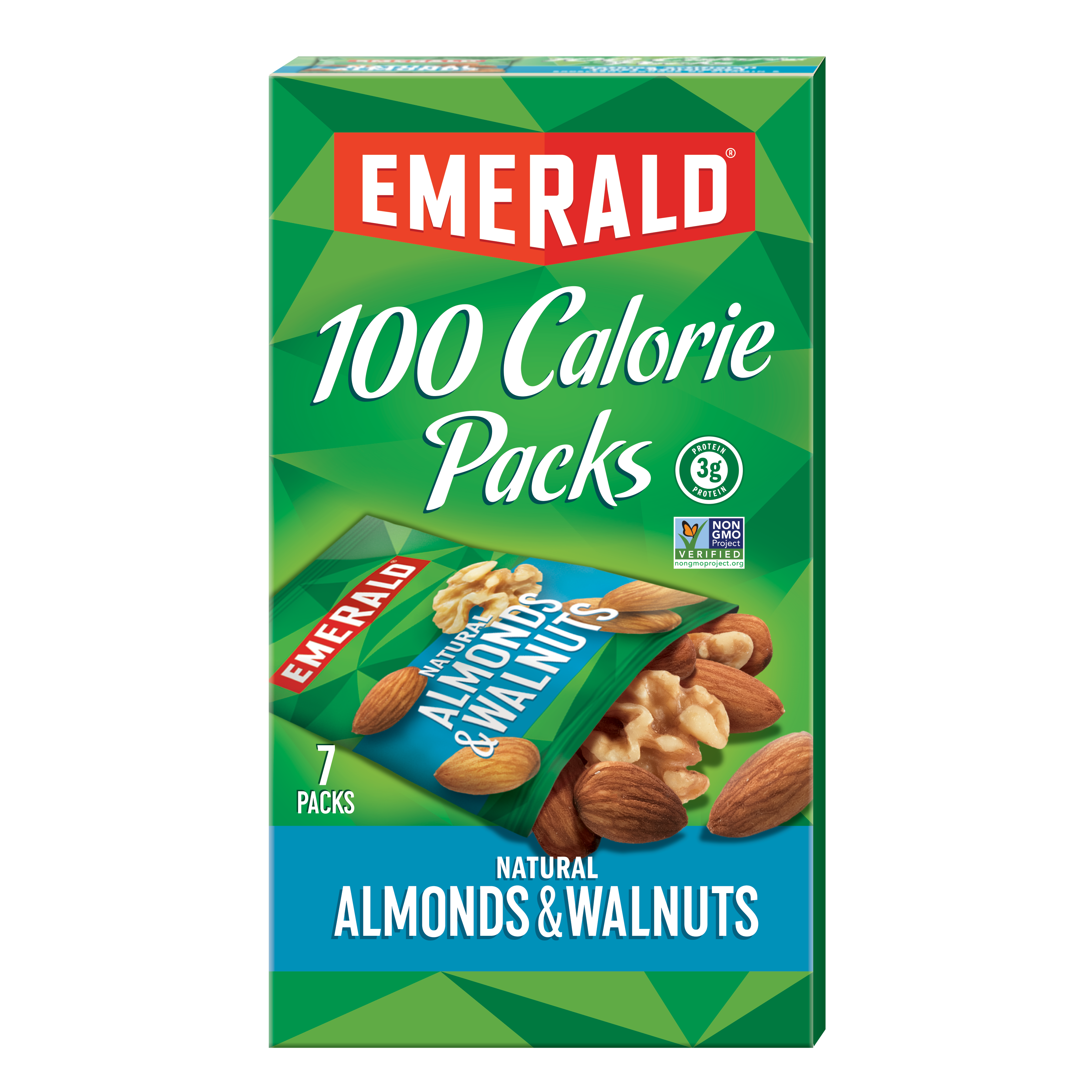 Emerald 100 Calorie Walnuts and Almonds, 0.56 Oz, 7 Ct