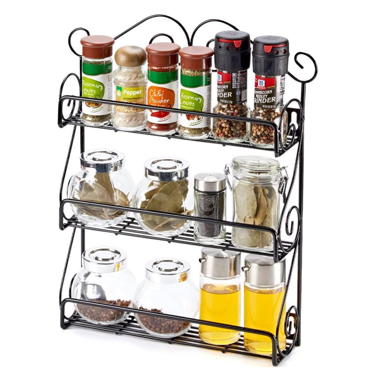 3 Tiers Kitchen Countertop Spice Rack Organizer Spice Rack ...