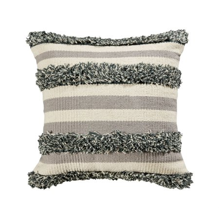 Cream and Grey Textured Pillow Cover 20x20-inch Pillow Cover Only Mojave - image 1 of 1