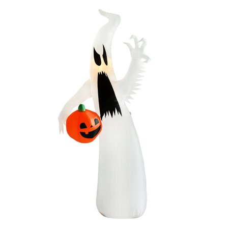 Halloween Ghost Lights Decorations (Homegear Halloween Decoration 8 Feet Inflatable Ghost with LED Glow)