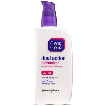 CLEAN & CLEAR Dual Action Oil-Free Moisturizer 4 oz (Pack of 2)