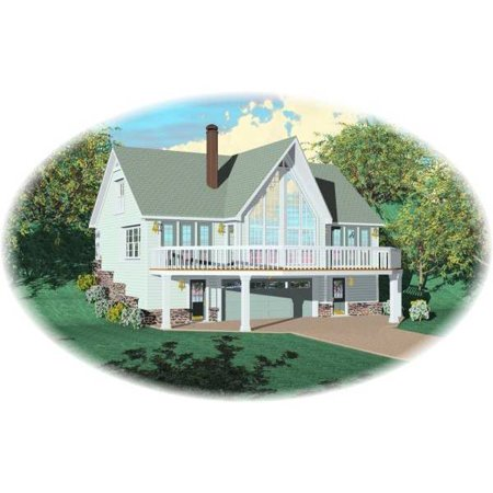 Thehousedesigners 8115 Beach House Plan With Basement Foundation  5 Printed Sets
