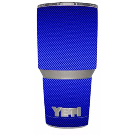 Skin Decal Vinyl Wrap for Yeti 30 oz Rambler Tumbler Cup (6-piece kit) Stickers Skins Cover / Blue Carbon Fiber graphite