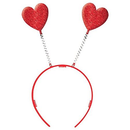 Valentines Day Head (Amscan Valentine's Day Heart Boppers Party Headband, One)